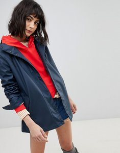 Read more about Hunter lightweight festival rubber raincoat - navy