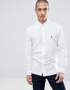 Read more about Polo ralph lauren slim fit pique shirt player logo button-down in white - white
