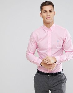 Read more about Polo ralph lauren slim fit poplin shirt polo player in pink