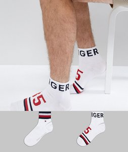 Read more about Tommy hilfiger quarter socks 2 pack american heritage - white
