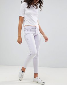 Read more about Levi s line 8 mid rise cropped skinny jean with raw hem - l8 claire