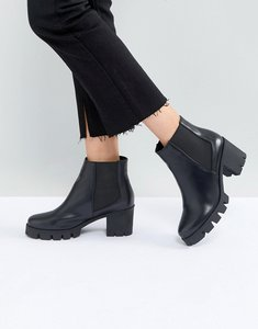 Read more about Raid phoenix black chunky heeled ankle boots - black pu