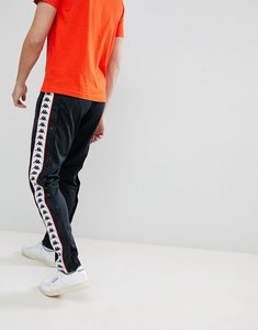 Read more about Kappa poly tricot joggers with banda poppers - black