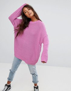 Read more about Asos oversized chunky jumper - bright pink