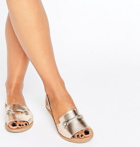 Read more about Asos jasmina leather summer shoes - gold