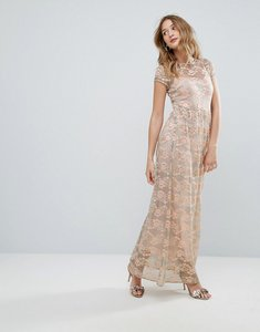 Read more about Traffic people lace maxi dress - green