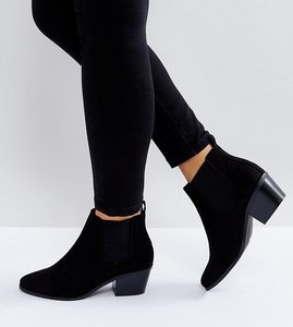 Read more about Asos revive wide fit chelsea ankle boots - black