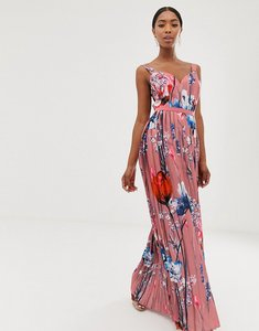 Read more about Little mistress all over printed maxi dress in multi