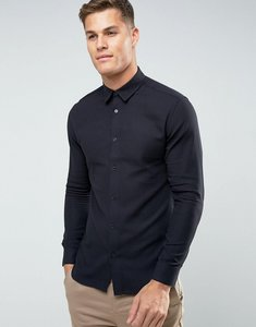 Read more about Selected homme slim shirt in texture - black