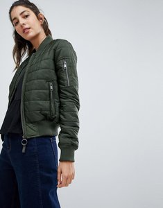 Read more about Brave soul alex padded bomber jacket - khaki