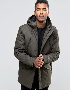 Read more about Brave soul hooded bonded parka - green