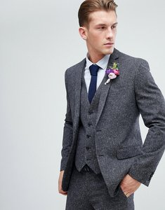 Read more about Farah skinny wedding suit jacket in charcoal fleck - charcoal