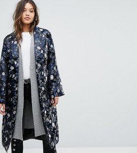 Read more about Dolly delicious premium embroidered jacquard maxi kimono jacket - blue multi