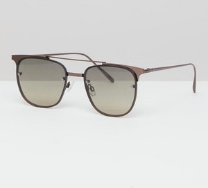 Read more about Asos design retro sunglasses in gunmetal - gunmetal