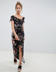 Read more about Asos design button through sweetheart neck maxi dress in floral print