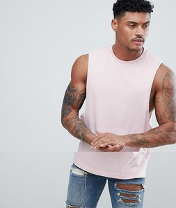 Read more about Asos design vest with dropped armhole in pink - silver pink