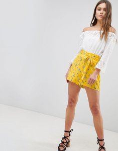 Read more about Parisian floral shorts - yellow