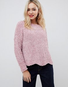Read more about Stella morgan chenille jumper with scalloped hem - pink
