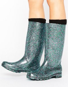 Read more about Asos gangster glitter wellies - blue