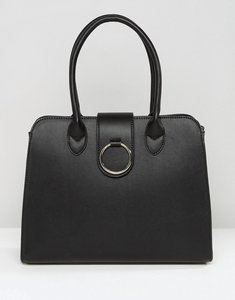 Read more about Asos tote bag with ring detail - black