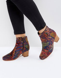 Read more about H by hudson garnett liberty velvet mid ankle boot - autumn velvet