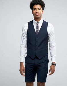 Read more about Farah skinny waistcoat in navy - navy