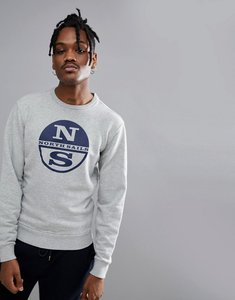 Read more about North sails lowell logo sweat in grey - grey melange