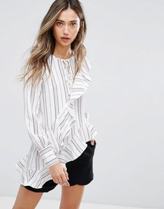 Read more about Pearl ruffle printed blouse - print