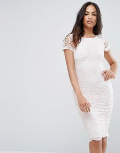 Read more about Ax paris lace insert midi dress - pink cream