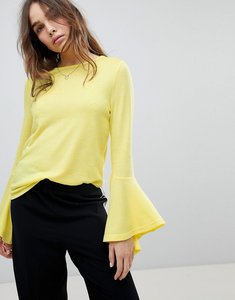 Read more about Only jumper with fluted sleeve - yellow
