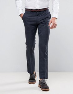 Read more about Harry brown navy heritage check suit trousers - navy