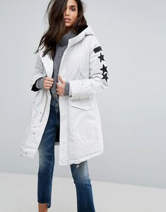 Read more about Replay parka coat - white