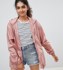 Read more about Asos tall rain jacket with bumbag - pink