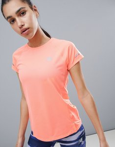 Read more about New balance running ice short sleeve tee in peach - orange