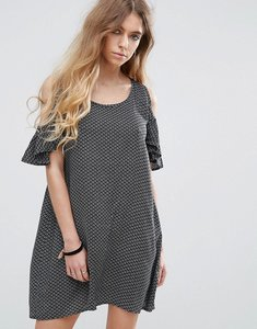 Read more about Rock religion printed cold shoulder dress - print