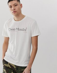 Read more about Cheap monday t-shirt with fade logo in white
