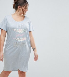 Read more about Yours clothing live your dreams nightdress - blue