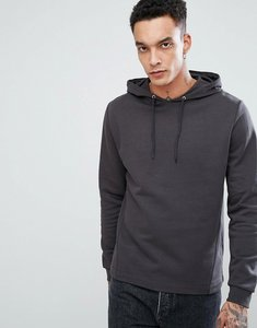 Read more about Asos hoodie with side panels in washed black - bal