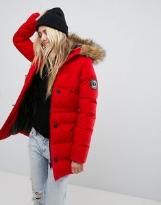 Read more about Brave soul whitehorse padded parka coat - red