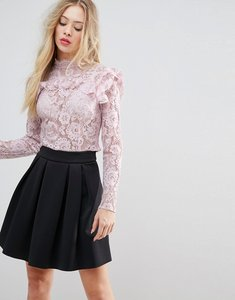 Read more about Asos premium lace crop top - blush