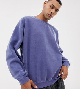 Read more about Reclaimed vintage inspired oversized sweatshirt in washed navy - washed navy