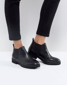Read more about Asos analise leather chelsea boots - black