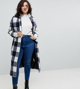 Read more about Asos curve check slim coat with pocket detail - multi