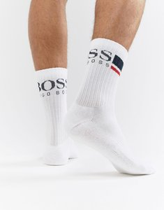 Read more about Boss rib logo socks - white