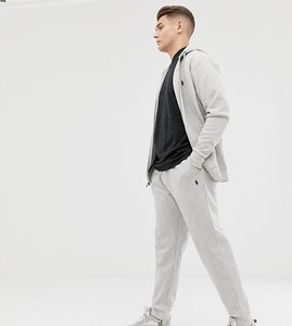 Read more about Polo ralph lauren big tall player logo cuffed joggers in grey marl