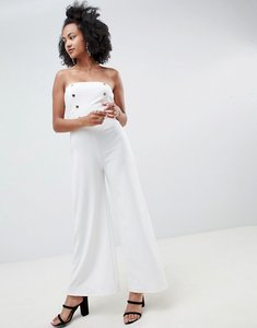 Read more about New look strapless tailored jumpsuit - white