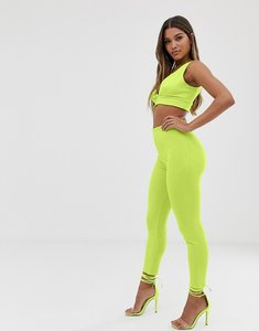 Read more about Club l london cigarette trouser co-ord in lime