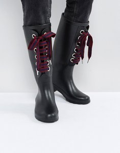Read more about Asos gumball interchangeable laces wellies - black