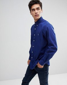 Read more about Polo ralph lauren poplin button down collar shirt custom regular fit polo player in dark blue - soho
