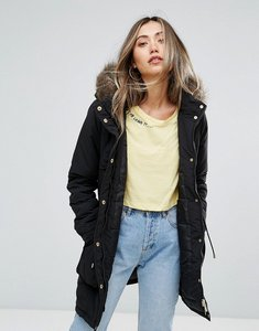 Read more about Brave soul hooded mid parka - black